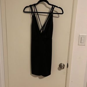 "Nasty Gal black strappy ""going out"" dress"